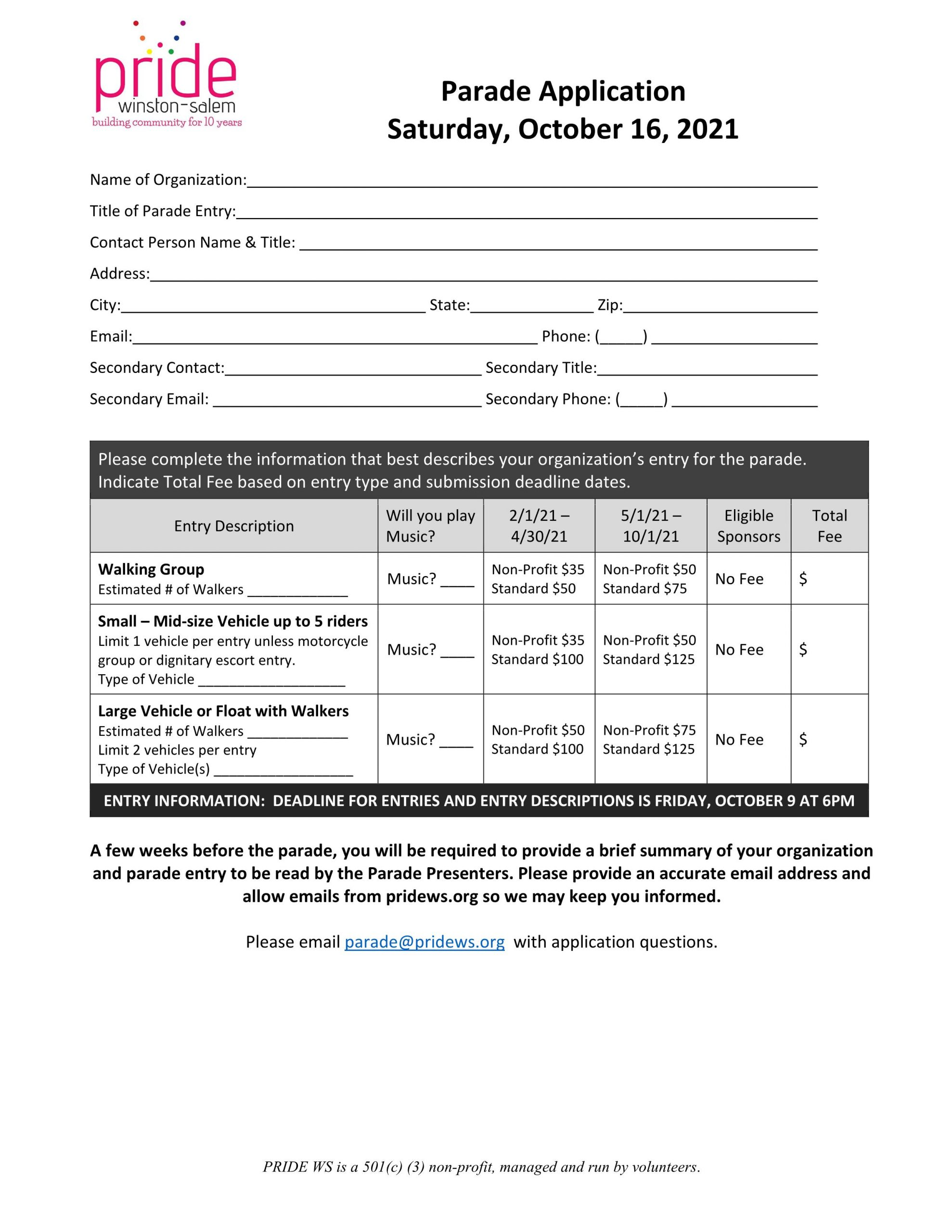 PARADE APPLICATION PAGE 1